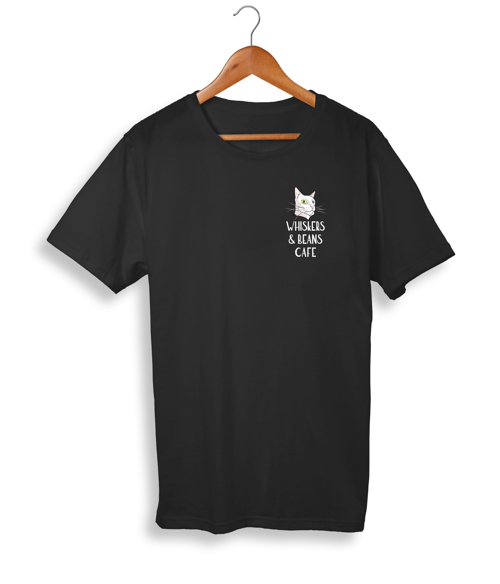 Whiskers & Beans Cafe tshirt