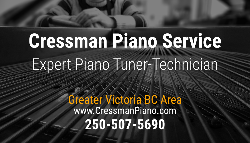 Cressman Piano Service business card front