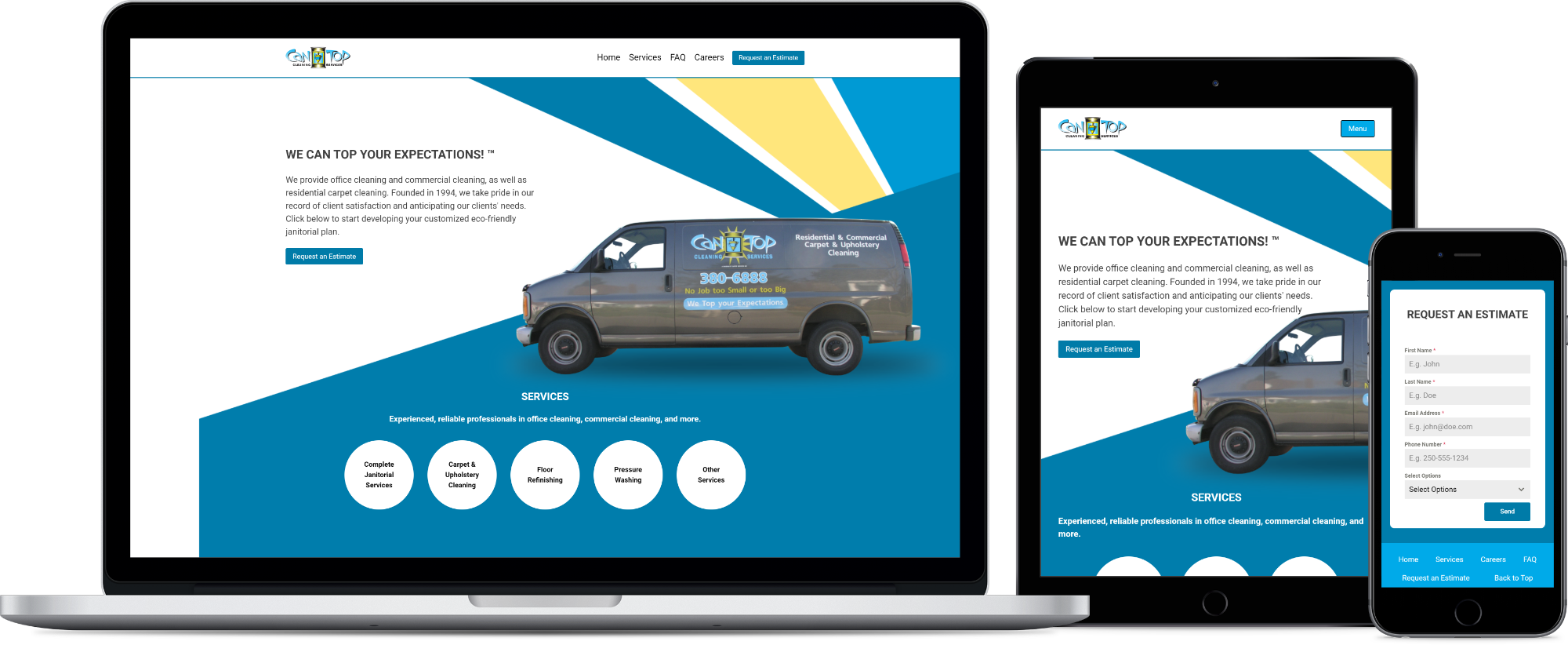 Cantop Cleaning Services mockup